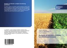 Buchcover von Analysis of elevator complex functioning processes