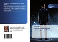 Buchcover von International Economics: accounting method manual