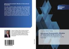 Buchcover von Advanced Econometric Models of International Economics