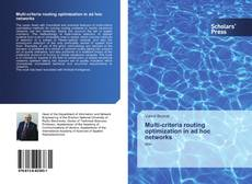 Bookcover of Multi-criteria routing optimization in ad hoc networks