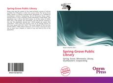 Bookcover of Spring Grove Public Library