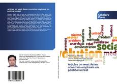 Bookcover of Articles on west Asian countries emphasis on political unrest