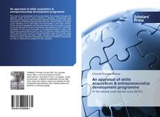 Bookcover of An appraisal of skills acquisition & entrepreneurship development programme