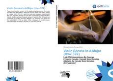 Couverture de Violin Sonata In A Major (Hwv 372)