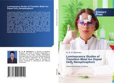 Capa do livro de Luminescence Studies of Transition Metal Ion Doped CeO2 Nanophosphors