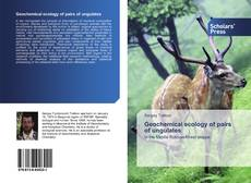 Bookcover of Geochemical ecology of pairs of ungulates