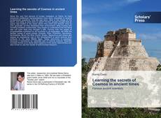 Capa do livro de Learning the secrets of Cosmos in ancient times