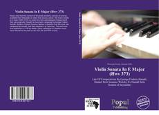 Обложка Violin Sonata In E Major (Hwv 373)