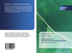 Bookcover of Introduction of Dithiocarbamate Compounds