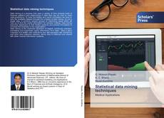 Bookcover of Statistical data mining techniques