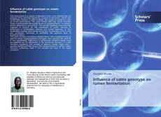 Influence of cattle genotype on rumen fermentation的封面