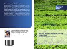 Bookcover of Gender and agricultural supply responses