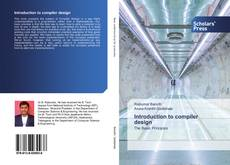 Bookcover of Introduction to compiler design