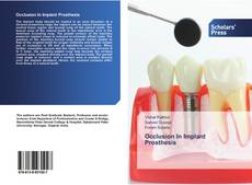 Bookcover of Occlusion In Implant Prosthesis