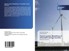 Bookcover of Hybrid system Modelling of renewable energy sources