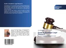 Capa do livro de Guide to Academic Legal Research