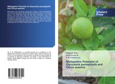 Bookcover of Allelopathic Potential of Glycosmis pentaphylla and Citrus maxima