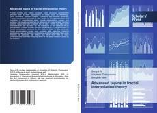 Capa do livro de Advanced topics in fractal interpolation theory