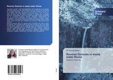 Bookcover of Reverse Osmosis in waste water Reuse