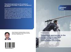 Bookcover of Theoretical approaches to the company's management paradigm; Pragmatic management structures