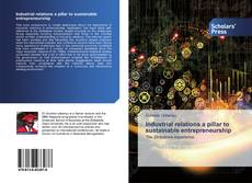 Buchcover von Industrial relations a pillar to sustainable entrepreneurship