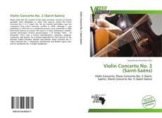 Capa do livro de Violin Concerto No. 2 (Saint-Saëns)