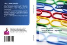Buchcover von Topics in Applied Linguistics