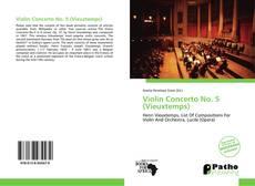 Bookcover of Violin Concerto No. 5 (Vieuxtemps)