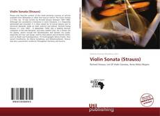 Bookcover of Violin Sonata (Strauss)