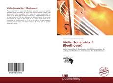 Portada del libro de Violin Sonata No. 1 (Beethoven)
