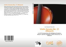 Bookcover of Violin Sonata No. 21 (Mozart)