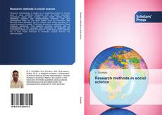 Bookcover of Research methods in social science