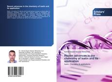 Couverture de Recent advances in the chemistry of isatin and its application