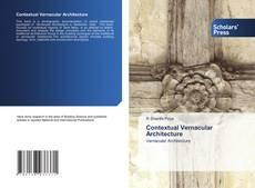 Contextual Vernacular Architecture kitap kapağı