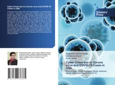 Bookcover of Cyber-Crime due to Corona virus and COVID-19 Cases in USA