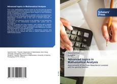 Capa do livro de Advanced topics in Mathematical Analysis