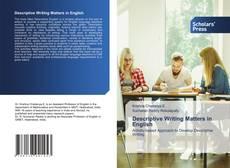 Descriptive Writing Matters in English kitap kapağı