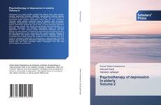 Bookcover of Psychotherapy of depression in elderly Volume 2