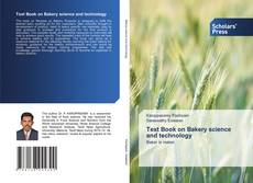 Bookcover of Text Book on Bakery science and technology