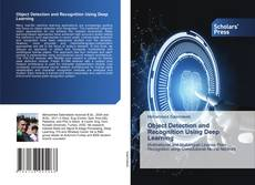 Portada del libro de Object Detection and Recognition Using Deep Learning