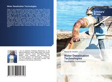 Bookcover of Water Desalination Technologies
