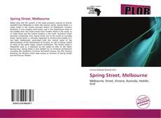 Buchcover von Spring Street, Melbourne