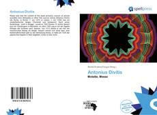 Antonius Divitis kitap kapağı