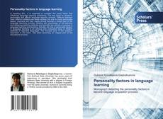 Bookcover of Personality factors in language learning
