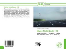 Bookcover of Maine State Route 113