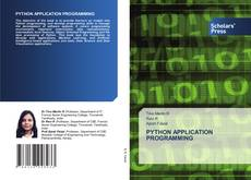 Bookcover of PYTHON APPLICATION PROGRAMMING