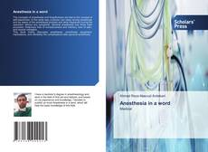 Buchcover von Anesthesia in a word