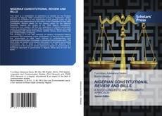 Buchcover von NIGERIAN CONSTITUTIONAL REVIEW AND BILLS