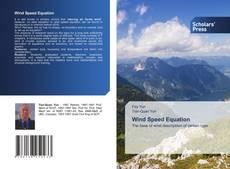 Buchcover von Wind Speed Equation