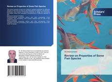 Buchcover von Review on Properties of Some Fish Species